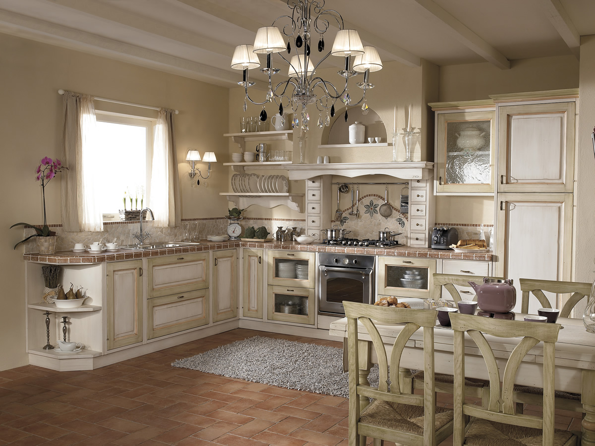 Cucine in legno massiccio massello cucina cucina iris for Cucine componibili colorate