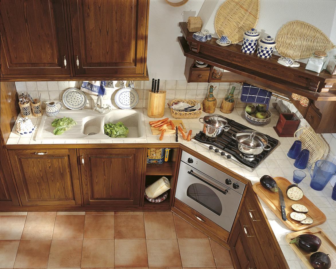 Cucine in legno massiccio massello cucina cucina toscano cucine componibili in legno massello - Cucine artigianali in legno massello ...