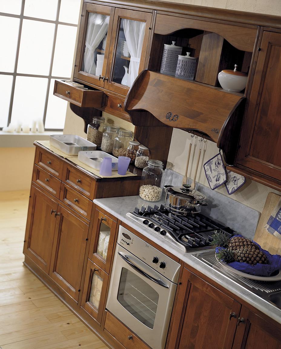 Cucine in legno massiccio massello Cucina Cucina Il Quadrifoglio ...