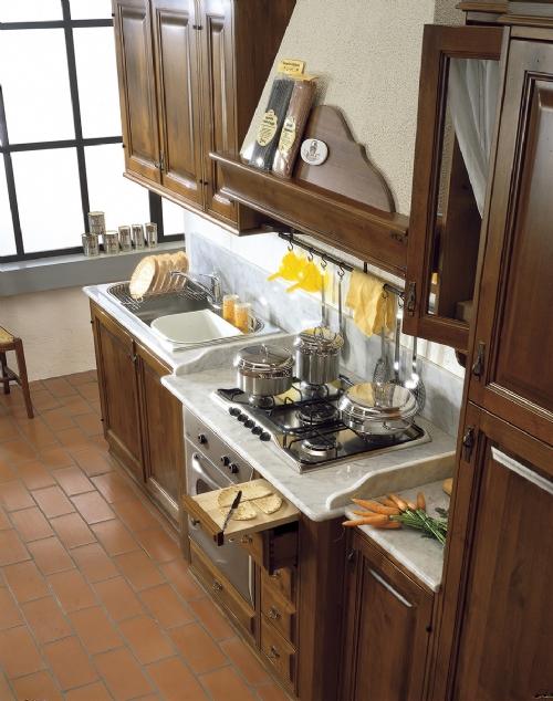 Cucine in legno massiccio massello cucina cucina il borgo cucine componibili in legno massello - Cucine del borgo ...